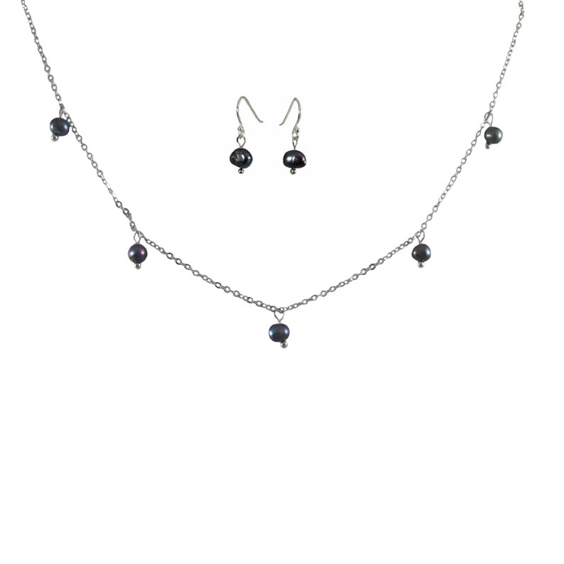 Freshwater Peacock Pearl Necklaces /& Earrings