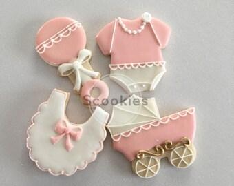 Baby Shower Cookies,It's a Girl cookies, Baby Girl Cookies, Girl baby shower cookies, Baby Shower, /1 Dozen