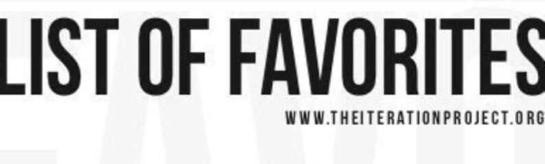 Prompt List: List Of Favorites image 0