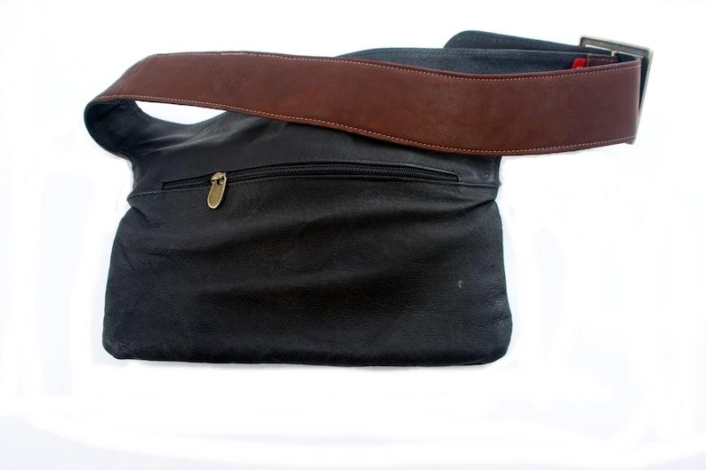 bum bag travel pouch fanny pack Brown Leather Hip Bag belt pocket