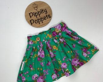 Flat Fronted Waistband Skirt