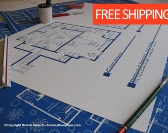 Roseanne & Dan Conner TV Home Floor Plan Poster - SECOND FLOOR - Fictional Blueprint for Roseanne Landford Illinois House