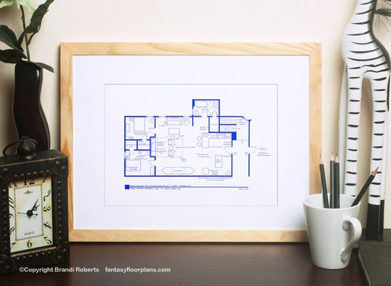 Friends tv show floor plan blueprint art for apartment of malvernweather Gallery