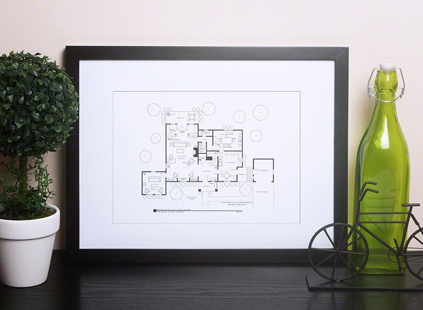 Leave It To Beaver Floor Plan Home Of June And Ward Cleaver Etsy