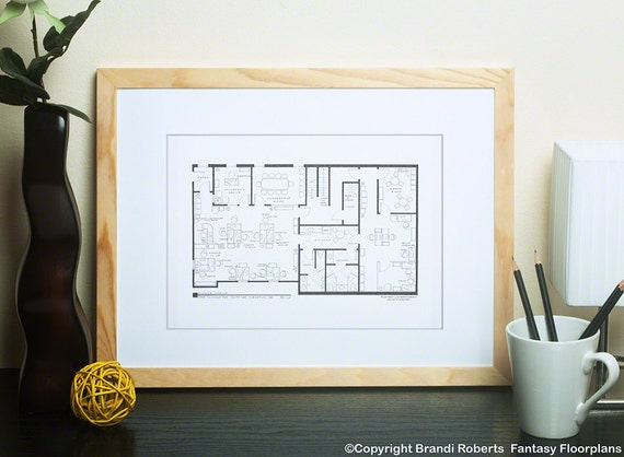 The office floor plan Set Image Etsy The Office Tv Show Office Floor Plan Dunder Mifflin Scranton Etsy