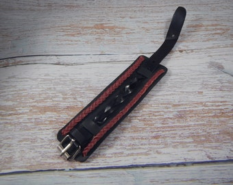 Leather black and red cuff Combination , leather bracelet, mens leather bracelet, leather bracelet for women,