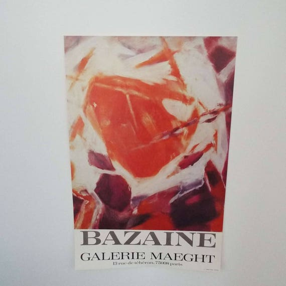 Original Vintage Mid Century Galerie Maeght Jean Rene Bazaine Art Poster