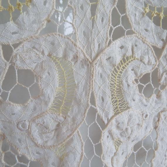 Antique Edwardian Lace Camisole Ivory White  & Le… - image 6