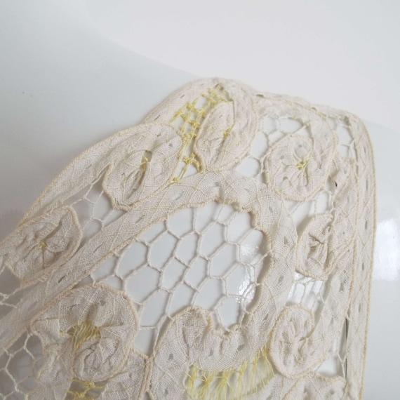 Antique Edwardian Lace Camisole Ivory White  & Le… - image 7