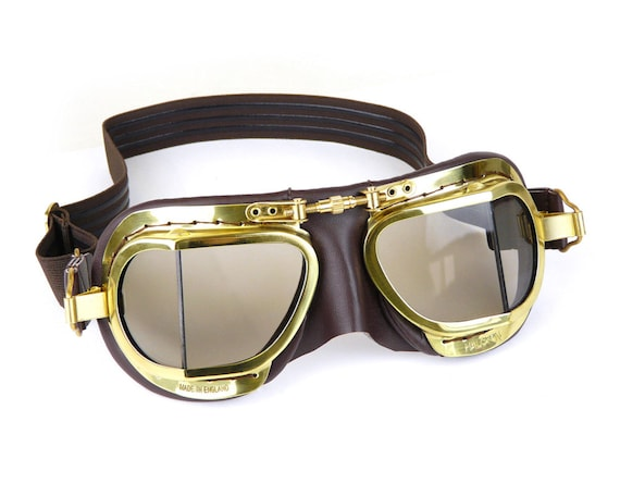 Halcyon Steampunk Edition Goggles Highly Polished Brass Etsy