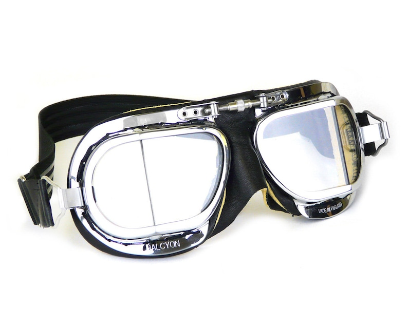 45dda45c157 Halcyon Mark 49 Compact Motorcycle Goggles   Black Leather