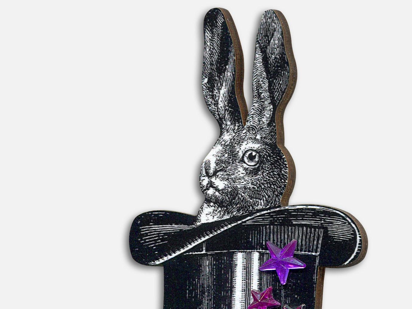 HOKUSPOKUS Brosche Anstecker Pin Hase Kaninchen Hut Magie   Etsy