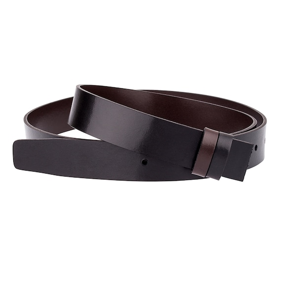 "Reversible Dress Belt Strap Genuine Leather 1-1//8/"" Wide Brown Navy Gray White"