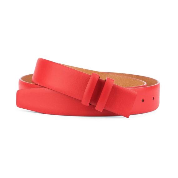 Mens Italian Leather Belt Belts Real New Sliding Buckle Trouser Black Brown Tan