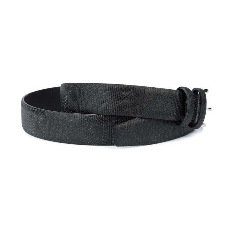 Snakeskin belt Unique belts Mens dress belts Black leather belt Embossed leather belt Snake skin belts 3.5 cm No stitching Formal dress belt