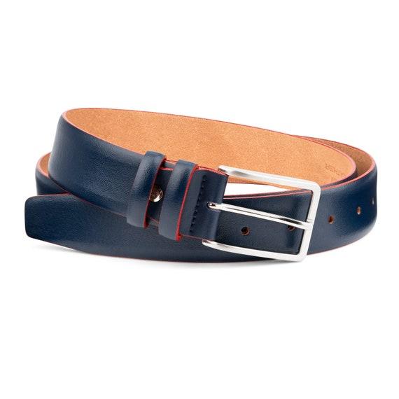 Cuir ceinture ceinture à la main pour homme lisse ceinture   Etsy f2acda42adc