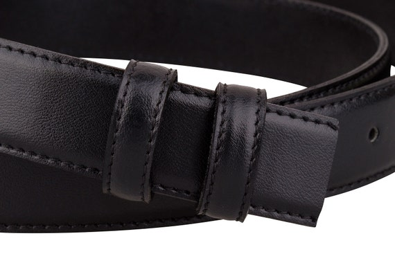 "Snap on Genuine Leather Belt Strap Brown /& Black Snaps Crocodile 30/"" TO 44/"""