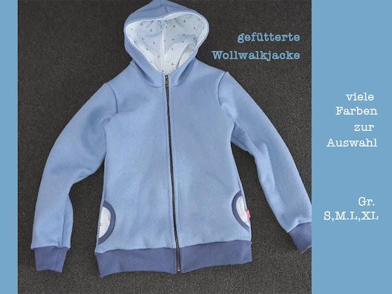 preiswert kaufen jetzt kaufen neu authentisch Walkjacke, gefütterte Wollwalkjacke blau für Damen und Herren