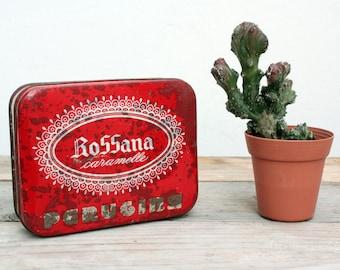 Perugia box candy tin box vintage vintage