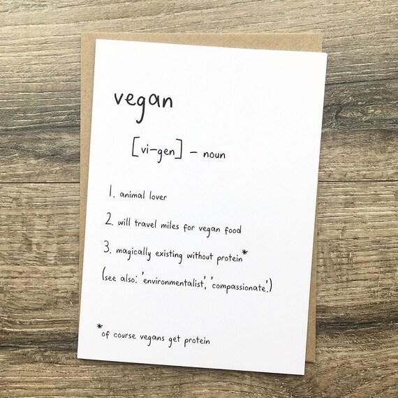 Vegan definition birthday greetings card plant based etsy image 0 m4hsunfo