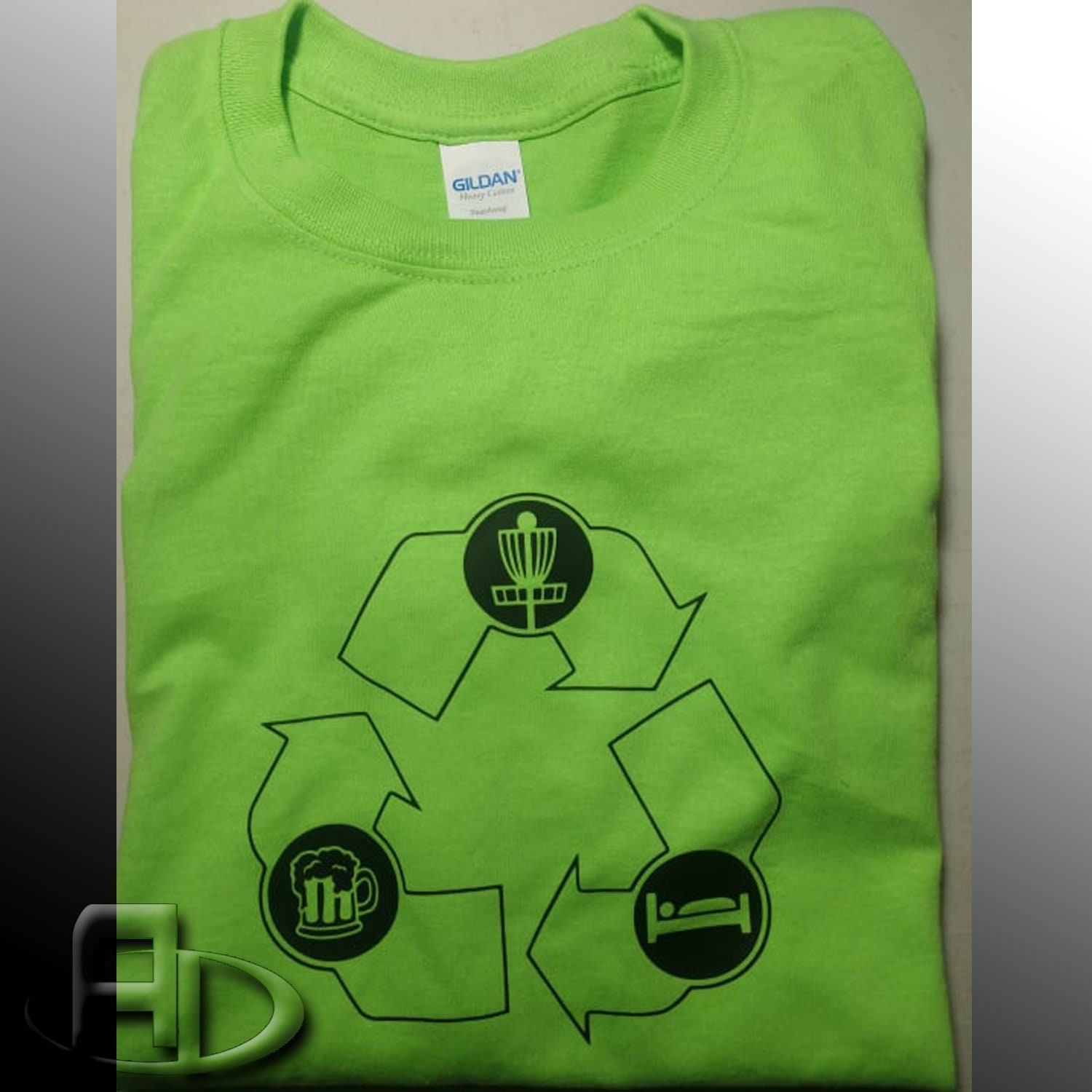 Recycled Disc Golf T Shirt By Anhyzer Designs