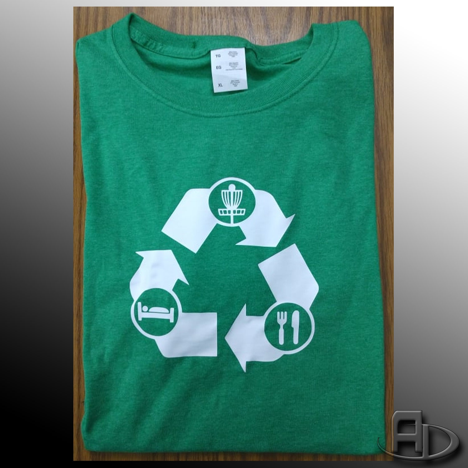 Recycled Disc Golf Ladies Fit Short Sleeve Cotton Disc Golf
