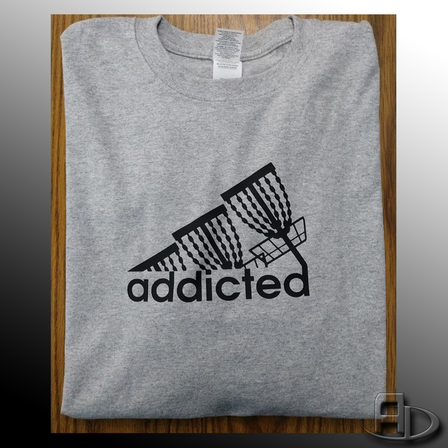 Disc Golf Addicted Ladies Fit Short Sleeve Cotton Disc Golf