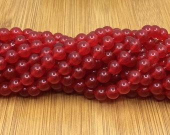 Handmade Jewelry Fricgore 12mm Jade Jadeite Round Gemstone Beaded Bangle Bracelet