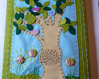Birds in a Tree A4 Book Cover