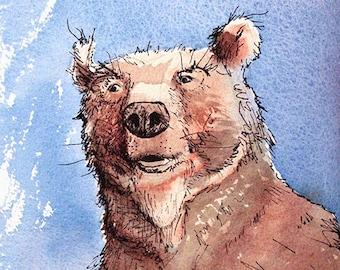 Bear?! limited edition archival fine art print