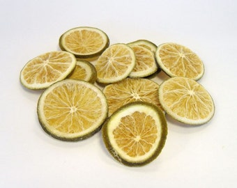 20 Dried Lime Slices, Lime, Dried Fruit Slices