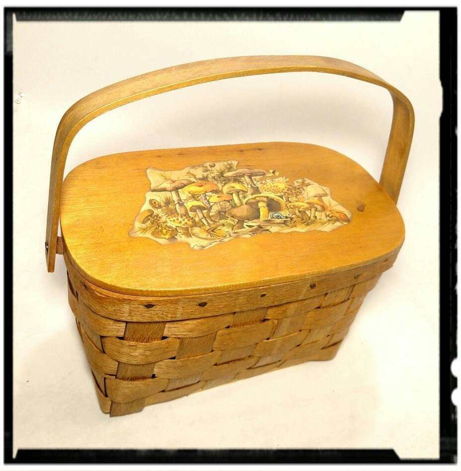 vintage picnic basket with mushrooms picnic for two beach going
