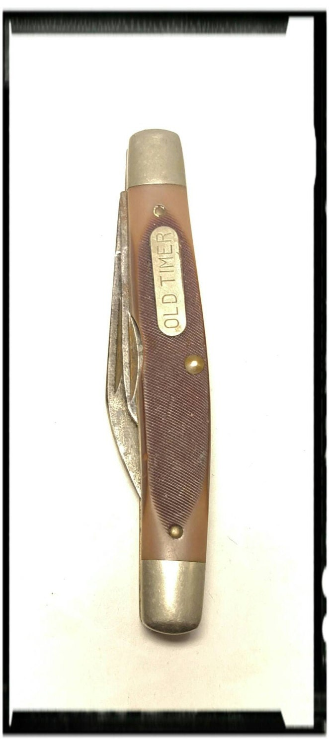 Collectible Schrade Old Time 830T Pocket Knife/ Boy Scout