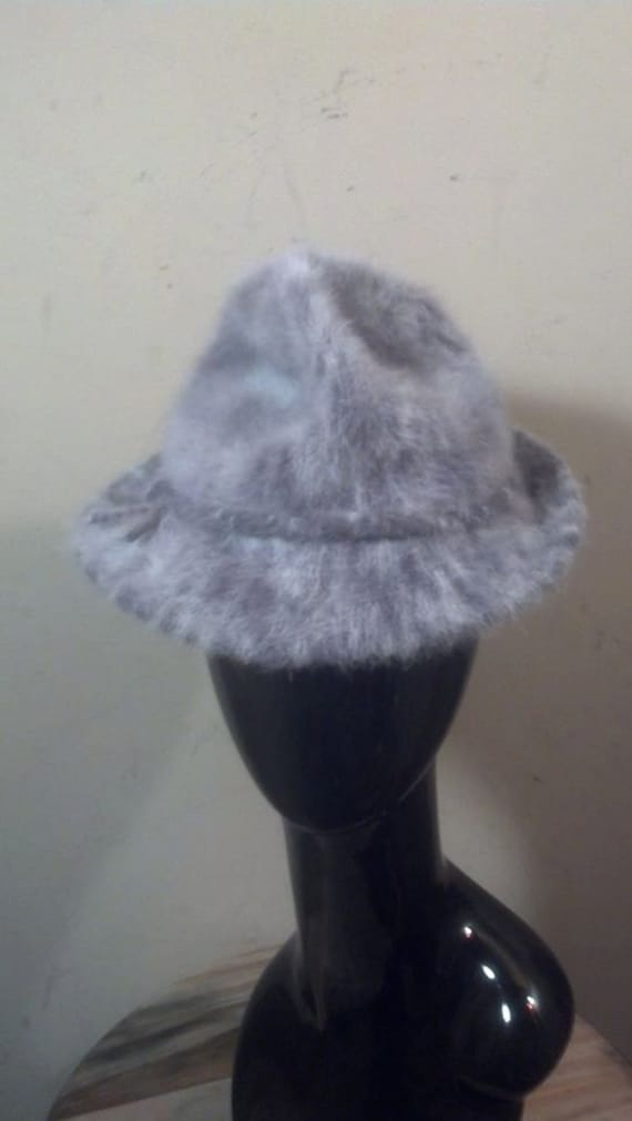 Fashionable Kangol Faux Fur Womens Bucket Hat / Gr