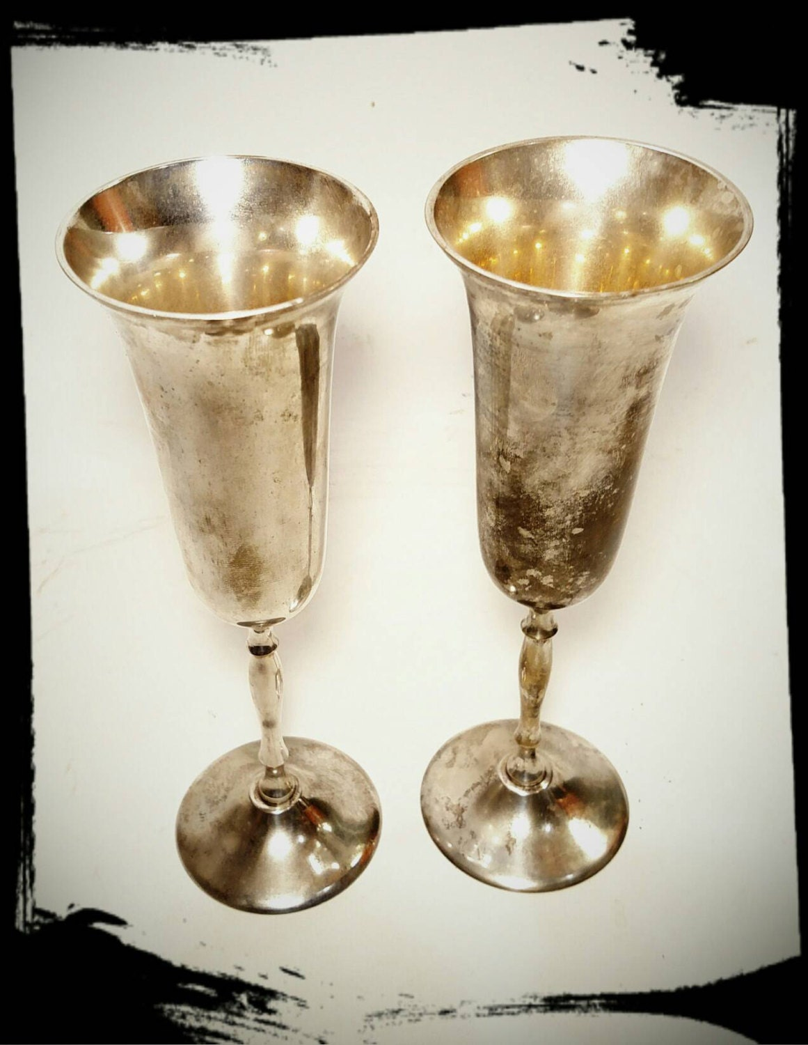 Collectible Silver Plated Wine Goblets Epns Made In India