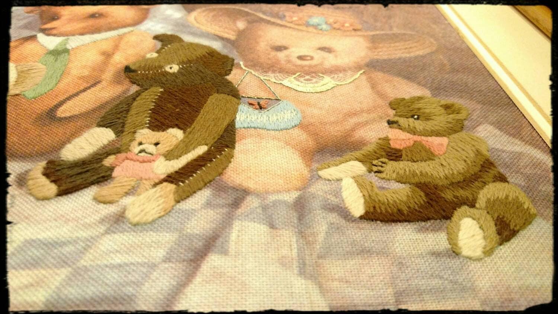 Collectible Teddy Bear Wall Art / Teddy Bears on Display Art/ Teddy ...