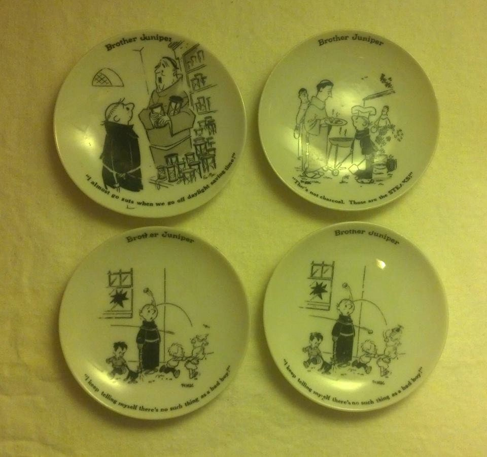 Collectible Brother Juniper 4 Plates / Spiritual Humor Small Plates ...