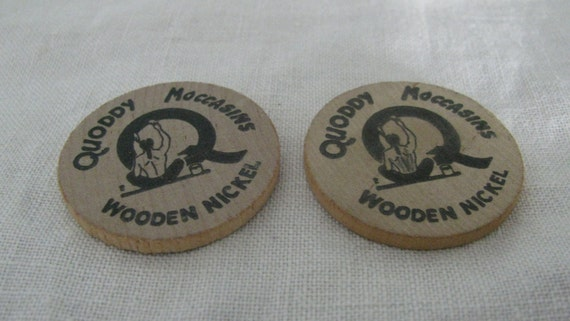 Laser Cut Wood Token Coin Don/'t Take Any Wooden Nickels! 12 Wooden Nickel Qty