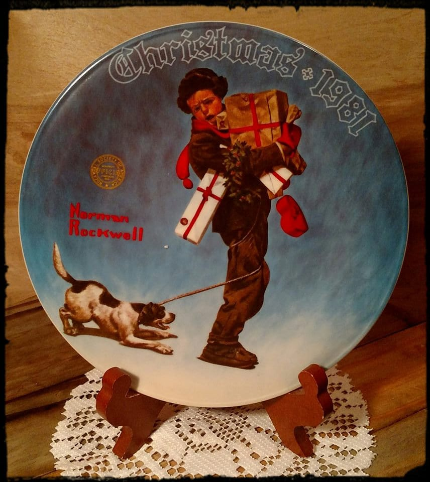 Collectible Norman Rockwell Christmas Collectible plate 1981 434A ...