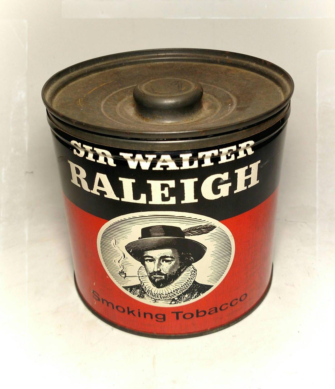 Vintage Sir Walter Raleigh Tobacco Tin Collectible
