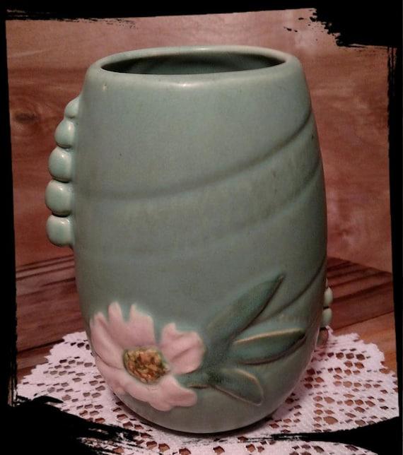 Antique Weller Rudlor Vase In Blue Vintage Signed Weller Etsy
