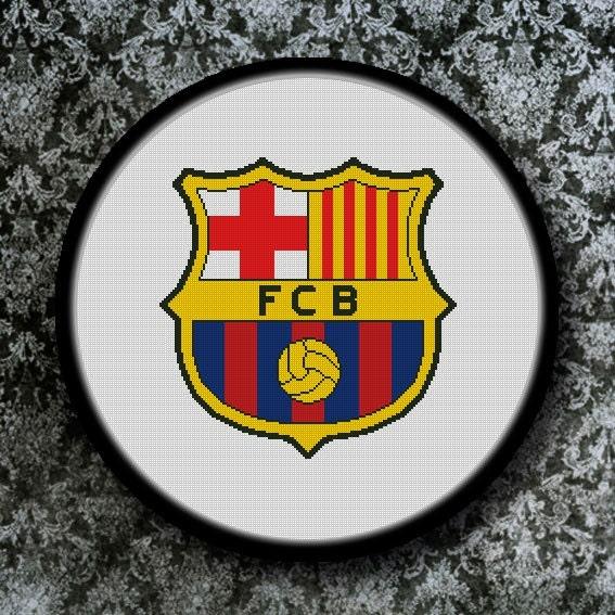 PDF Gráfico Punto de Cruz Escudo Fútbol Club Barcelona Barça  019093b29a5