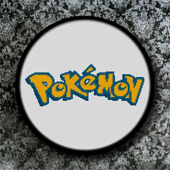 PDF Cross Stitch Pattern pokemon Downdloader Cross Stitch | Etsy