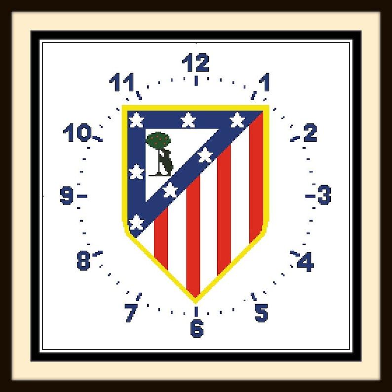 PDF Gráfico Punto de Cruz Reloj Atlético de Madrid Cross  4faba7dd137