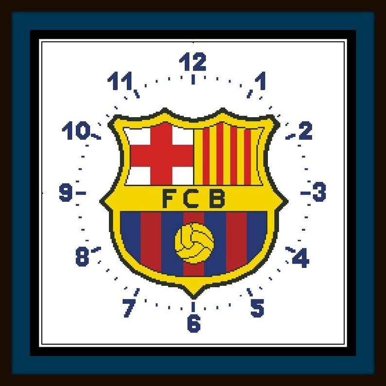 PDF Gráfico Punto de Cruz Reloj Barcelona Cross Stitch  f4eeb5e173e