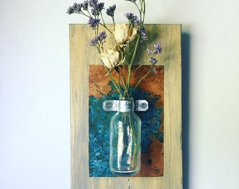 Copper Bud Vase Etsy