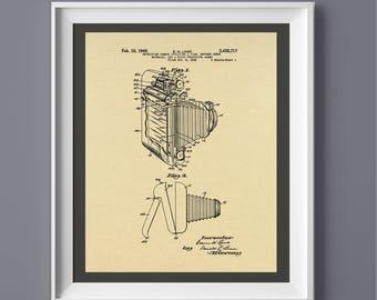Vintage Camera Patent Print, Vintage Camera Poster, Printable Art, Printable Poster,  INSTANT DOWNLOAD