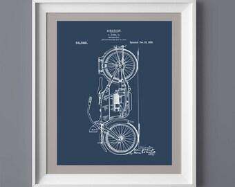 Vintage Motorcycle Patent Print, Vintage Printable, Vintage Motorcycle Poster, Printable Art, Printable Poster,  INSTANT DOWNLOAD