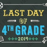 Boy Last Day of 4th Grade Sign Instant Download - Last Day of School Printable, Last Day of School sign