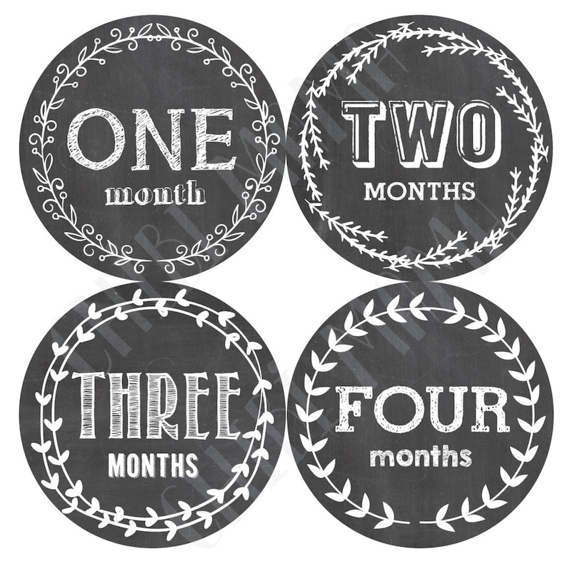 Free Shipping to US Baby Monthly Stickers Monthly image 0